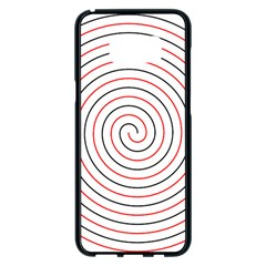 Double Line Spiral Spines Red Black Circle Samsung Galaxy S8 Plus Black Seamless Case by Mariart