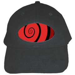 Double Spiral Thick Lines Black Red Black Cap by Mariart