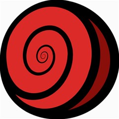 Double Spiral Thick Lines Black Red Canvas 16  X 16   by Mariart