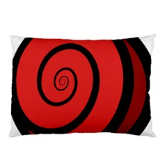 Double Spiral Thick Lines Black Red Pillow Case by Mariart