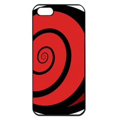 Double Spiral Thick Lines Black Red Apple Iphone 5 Seamless Case (black) by Mariart