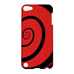 Double Spiral Thick Lines Black Red Apple Ipod Touch 5 Hardshell Case by Mariart