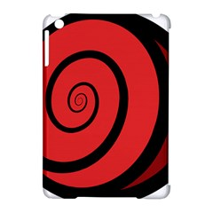 Double Spiral Thick Lines Black Red Apple Ipad Mini Hardshell Case (compatible With Smart Cover) by Mariart