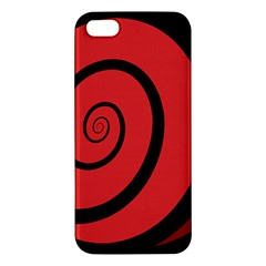 Double Spiral Thick Lines Black Red Apple Iphone 5 Premium Hardshell Case by Mariart