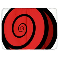Double Spiral Thick Lines Black Red Samsung Galaxy Tab 7  P1000 Flip Case by Mariart