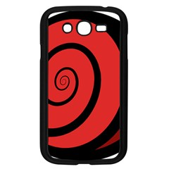 Double Spiral Thick Lines Black Red Samsung Galaxy Grand Duos I9082 Case (black) by Mariart