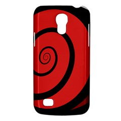Double Spiral Thick Lines Black Red Galaxy S4 Mini by Mariart