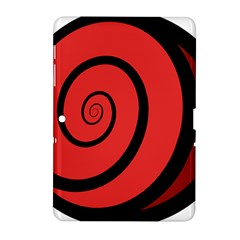 Double Spiral Thick Lines Black Red Samsung Galaxy Tab 2 (10 1 ) P5100 Hardshell Case  by Mariart