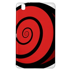 Double Spiral Thick Lines Black Red Samsung Galaxy Tab Pro 8 4 Hardshell Case by Mariart
