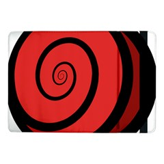 Double Spiral Thick Lines Black Red Samsung Galaxy Tab Pro 10 1  Flip Case by Mariart