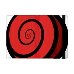 Double Spiral Thick Lines Black Red Ipad Mini 2 Flip Cases by Mariart