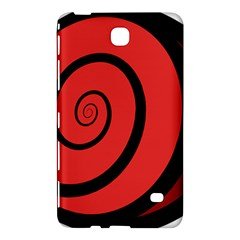 Double Spiral Thick Lines Black Red Samsung Galaxy Tab 4 (7 ) Hardshell Case  by Mariart