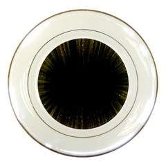 Colorful Light Ray Border Animation Loop Yellow Porcelain Plates by Mariart