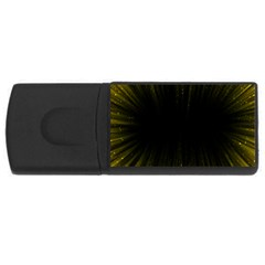 Colorful Light Ray Border Animation Loop Yellow Rectangular Usb Flash Drive by Mariart