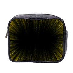 Colorful Light Ray Border Animation Loop Yellow Mini Toiletries Bag 2 Side by Mariart