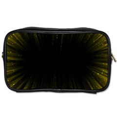 Colorful Light Ray Border Animation Loop Yellow Toiletries Bags by Mariart