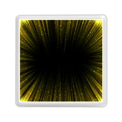 Colorful Light Ray Border Animation Loop Yellow Memory Card Reader (square)  by Mariart