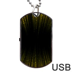 Colorful Light Ray Border Animation Loop Yellow Dog Tag Usb Flash (one Side) by Mariart