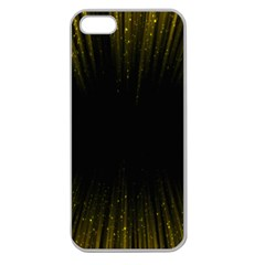 Colorful Light Ray Border Animation Loop Yellow Apple Seamless Iphone 5 Case (clear) by Mariart