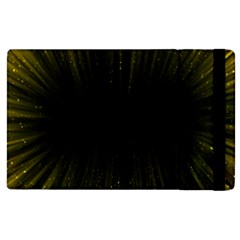 Colorful Light Ray Border Animation Loop Yellow Apple Ipad 3/4 Flip Case by Mariart