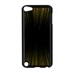 Colorful Light Ray Border Animation Loop Yellow Apple Ipod Touch 5 Case (black) by Mariart