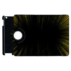Colorful Light Ray Border Animation Loop Yellow Apple Ipad 2 Flip 360 Case by Mariart