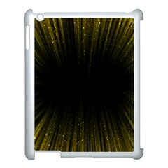 Colorful Light Ray Border Animation Loop Yellow Apple Ipad 3/4 Case (white) by Mariart