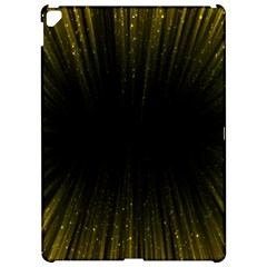Colorful Light Ray Border Animation Loop Yellow Apple Ipad Pro 12 9   Hardshell Case by Mariart