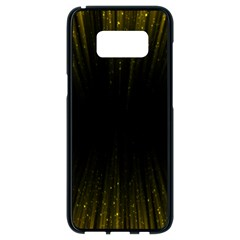 Colorful Light Ray Border Animation Loop Yellow Samsung Galaxy S8 Black Seamless Case by Mariart