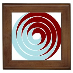 Double Spiral Thick Lines Blue Red Framed Tiles by Mariart