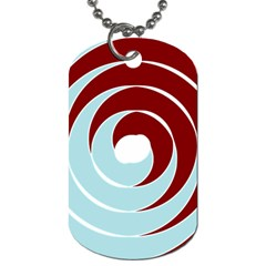 Double Spiral Thick Lines Blue Red Dog Tag (two Sides) by Mariart