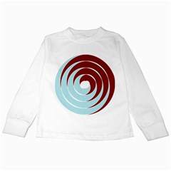 Double Spiral Thick Lines Blue Red Kids Long Sleeve T Shirts by Mariart