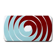 Double Spiral Thick Lines Blue Red Medium Bar Mats by Mariart