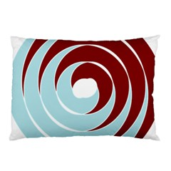 Double Spiral Thick Lines Blue Red Pillow Case by Mariart