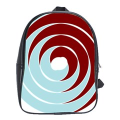 Double Spiral Thick Lines Blue Red School Bag (large) by Mariart