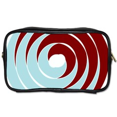 Double Spiral Thick Lines Blue Red Toiletries Bags by Mariart
