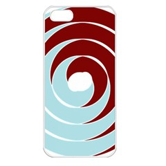 Double Spiral Thick Lines Blue Red Apple Iphone 5 Seamless Case (white) by Mariart