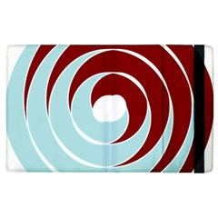 Double Spiral Thick Lines Blue Red Apple Ipad 3/4 Flip Case by Mariart