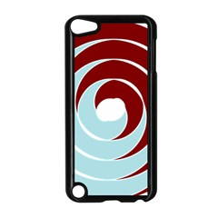 Double Spiral Thick Lines Blue Red Apple Ipod Touch 5 Case (black) by Mariart