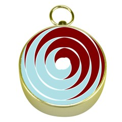 Double Spiral Thick Lines Blue Red Gold Compasses by Mariart