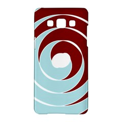 Double Spiral Thick Lines Blue Red Samsung Galaxy A5 Hardshell Case  by Mariart