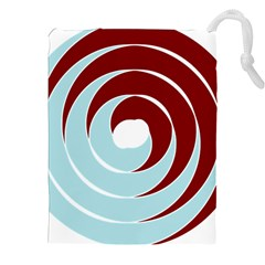 Double Spiral Thick Lines Blue Red Drawstring Pouches (xxl) by Mariart