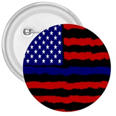 Flag American Line Star Red Blue White Black Beauty 3  Buttons by Mariart