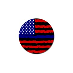 Flag American Line Star Red Blue White Black Beauty Golf Ball Marker (4 Pack) by Mariart