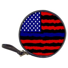 Flag American Line Star Red Blue White Black Beauty Classic 20 Cd Wallets by Mariart
