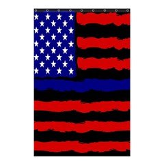 Flag American Line Star Red Blue White Black Beauty Shower Curtain 48  X 72  (small)  by Mariart