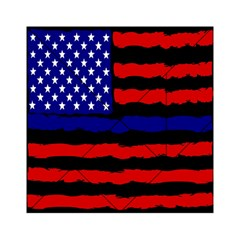 Flag American Line Star Red Blue White Black Beauty Acrylic Tangram Puzzle (6  X 6 ) by Mariart