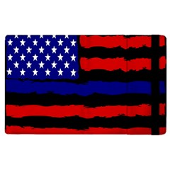 Flag American Line Star Red Blue White Black Beauty Apple Ipad 3/4 Flip Case by Mariart