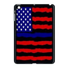 Flag American Line Star Red Blue White Black Beauty Apple Ipad Mini Case (black) by Mariart