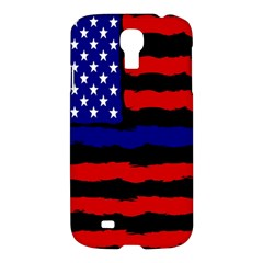 Flag American Line Star Red Blue White Black Beauty Samsung Galaxy S4 I9500/i9505 Hardshell Case by Mariart